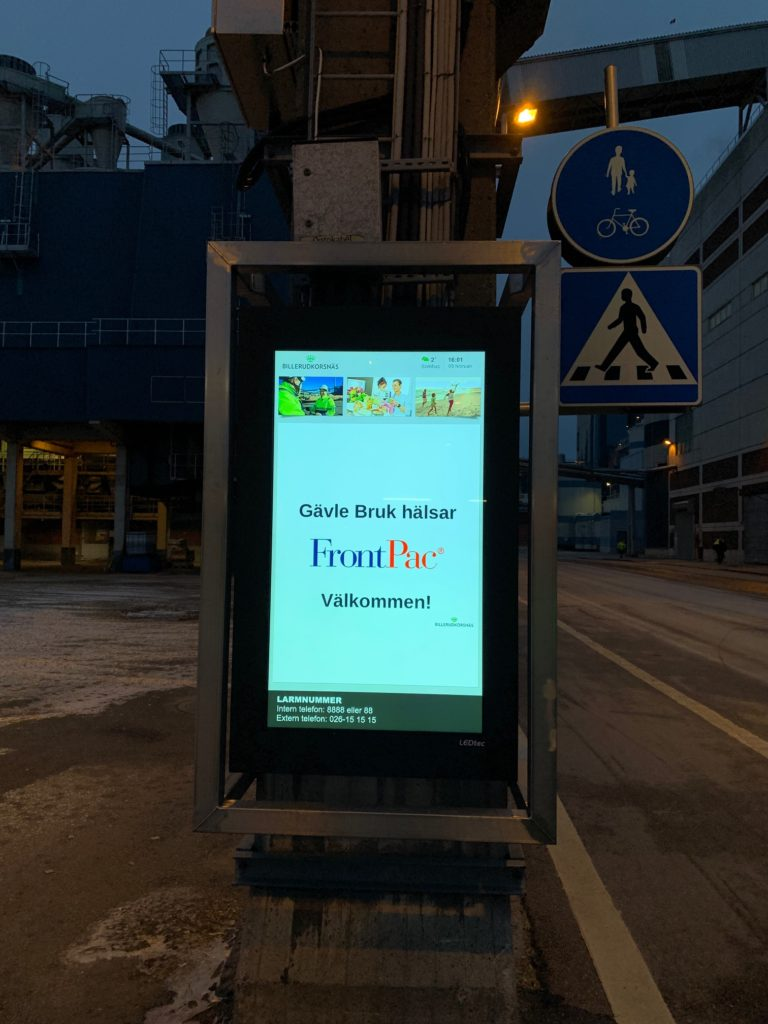 FrontPac besöker Billerudkorsnäs i Gävle